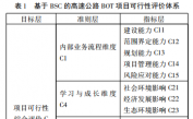 基于BSC-FANP的高速公路BOT项目可行性评价